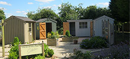 Garden Sheds and Buildings at our Oxfordshire Show Site