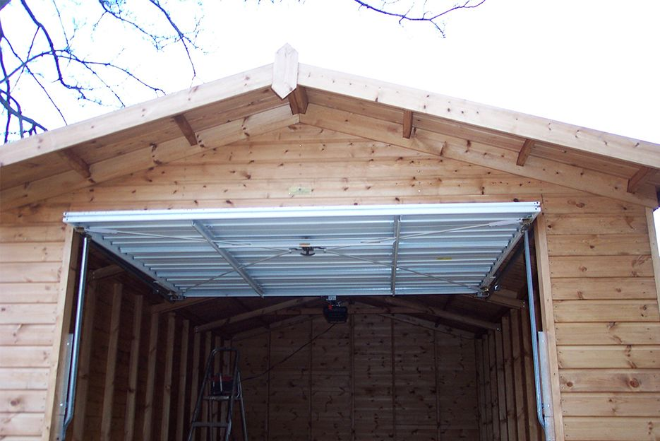 Timber garages free delivery installation for Garage overhang